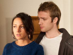Tina tries to remain upbeat when she returns to move into Jason's flat, but the place brings back horrible memories, leaving her upset as Tommy tries to comfort her