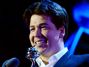 Michael McIntyre collects the Most Popluar Entertainment programme award for Michael McIntyre's Comedy Roadshow during the 2012 NTA Awards