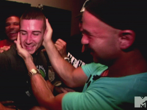 Vinny Guadagnino and Mike 'The Situation' Sorrentino MTV's 'Jersey Shore' Season 5, Episode 4 Free Vinny: Snooki and Deena get a swagger lesson from Pauly D and the house mates travel to Staten Island to bring Vinny back to the Shore