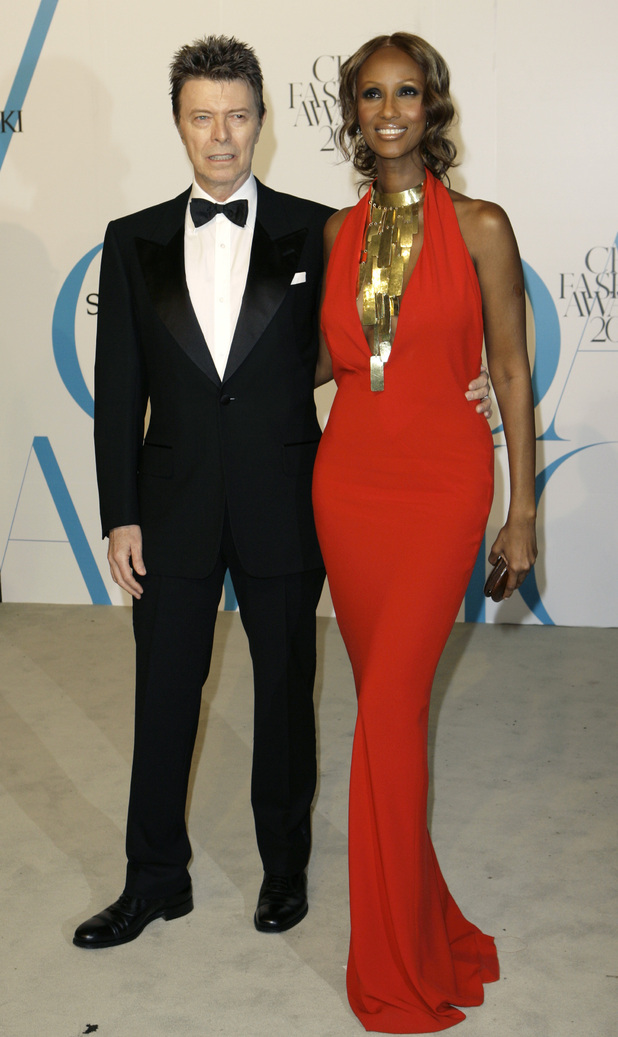 David Bowie and Iman, CFDA gala 2007