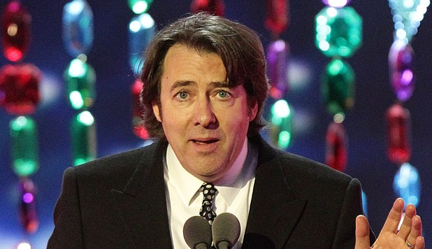 Jonathan Ross collects the Special Recognition award on stage during the 2012 NTA Awards