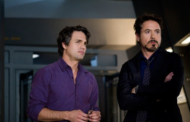 The Avengers: Bruce Banner (Mark Ruffalo) and Tony Stark (Robert Downey Jr).