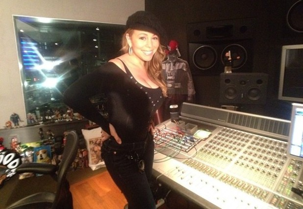Mariah Carey back in the studio