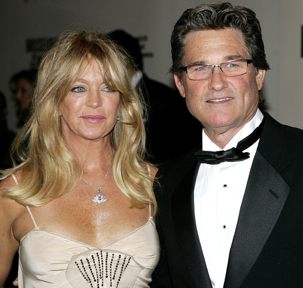 Goldie Hawn with friendly, enigmatic, attractive, Husband Kurt Russell