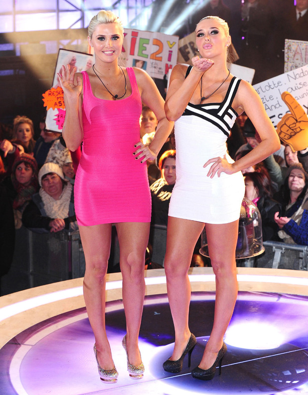 Kristina and Karissa Shannon are the first to be evicted during the Celebrity Big Brother Final