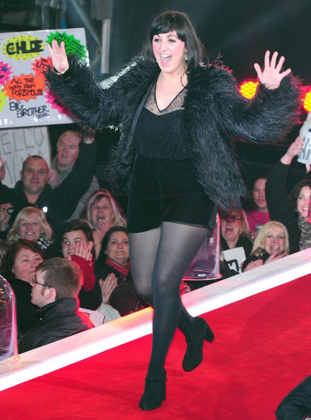 Natalie Cassidy arrives at the Celebrity Big Brother House during the live final