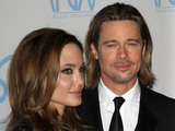 Angelina Jolie and Brad Pitt The 23rd Annual Producers Guild Awards held at The Beverly Hilton Beverly Hills, California