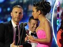 Tulisa Contostavlos and Gary Barlow talk at the NTAs about their X Factor plans.