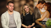 Tatum and McAdams chat sweets and sweaters for 'The Vow'