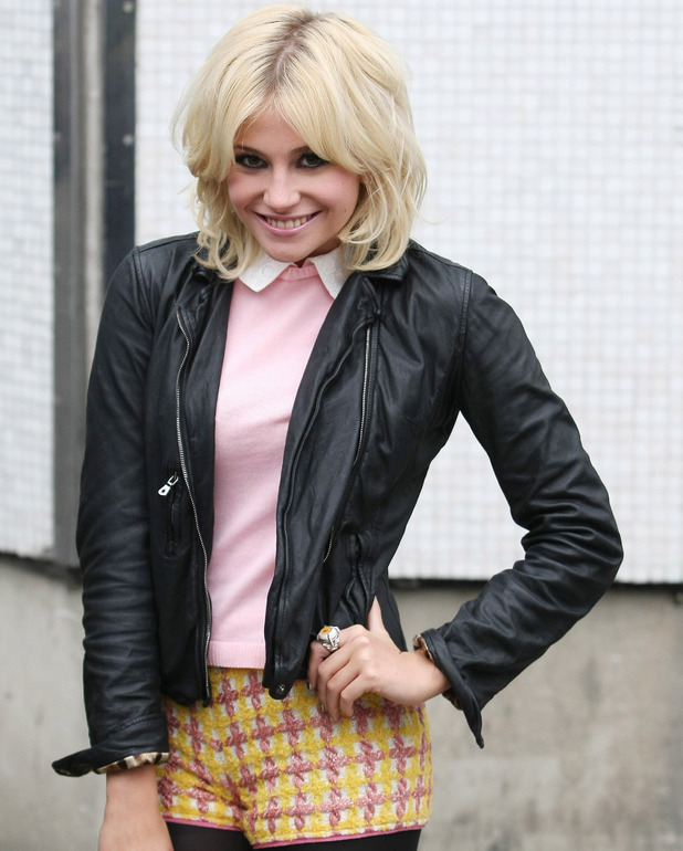 Pixie Lott leaves the ITV studios London