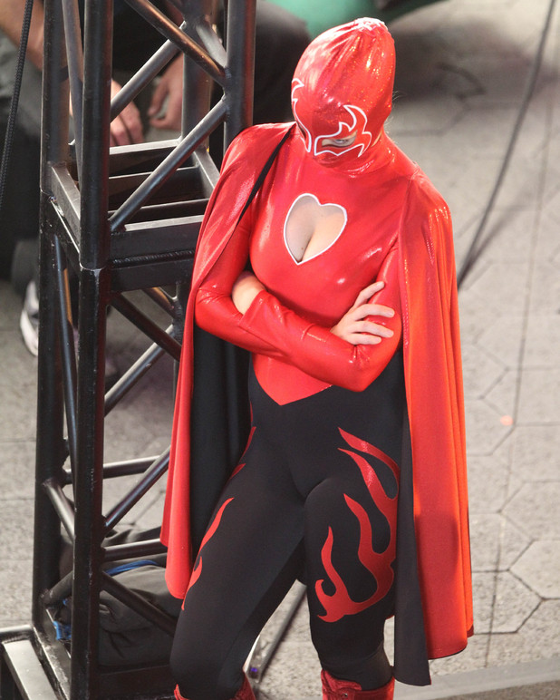 Olivia Wilde in a superhero costume