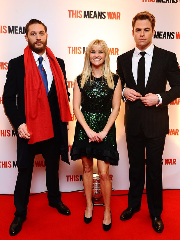 Tom Hardy, Reese Witherspoon and Chris Pine