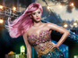 Katy Perry shows off purple hair in ad