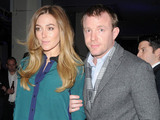 Jacqui Ainsley and Guy Ritchie at the H.R. Owen and Boujis Mayfair Party to launch the Bentley Continental GT V8  at Jack Barclay Bentley, London