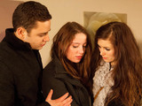 Adam, Hannah and Holly receive a shocking call from Katie who informs them of the accident