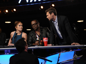 American Idol Season 11 -- Hollywood Week - Ryan talking to judges