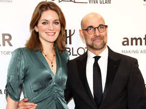 Stanley Tucci, Felicity Blunt, AmFAR Benefit Gala