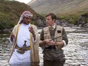 Ewan McGregor and Amr Waked in Salmon Fishing in the Yemen