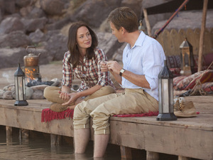 Ewan McGregor and Emily Blunt in Salmon Fishing in the Yemen