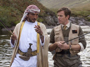 Amr Waked (Sheikh) & Ewan McGregor (Fred Jones) in 'Salmon Fishing In The Yemen'
