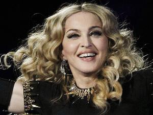 Madonna performs during halftime of the NFL Super Bowl XLVI
