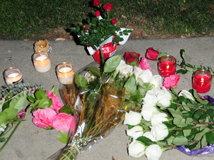 Tributes are left for Whitney Houston