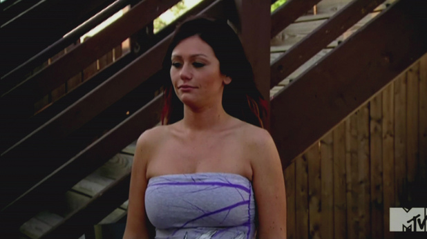 Jenni 'JWoww' Farley MTV's 'Jersey Shore' Season 5, Episode 6 The Follow Game: Mike gathers information on a roommate while Jenni's boyfriend doesn't return her calls USA