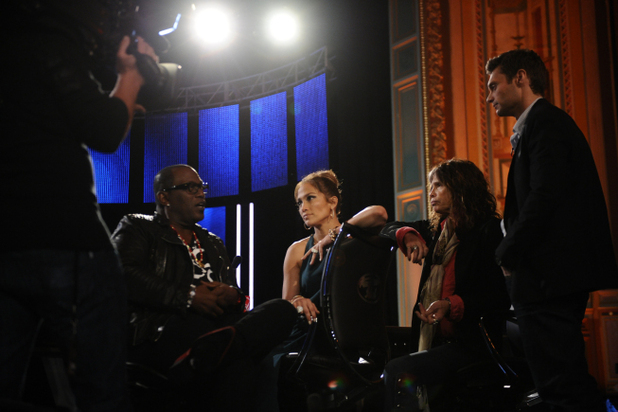 American Idol Season 11 -- Hollywood Week - Judges backstage