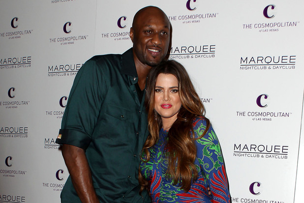 Lamar Odom and Khloe Kardashian Kim Kardashian celebrates her birthday at Marquee Nightclub at Cosmopolitan Las Vegas, Nevada