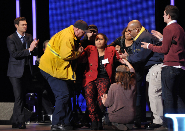 American Idol Season 11 -- Hollywood Week - A contestant faints
