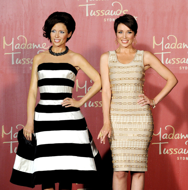 Dannii Minogue waxwork unveiled at Madame Tussauds, Melbourne, Australia