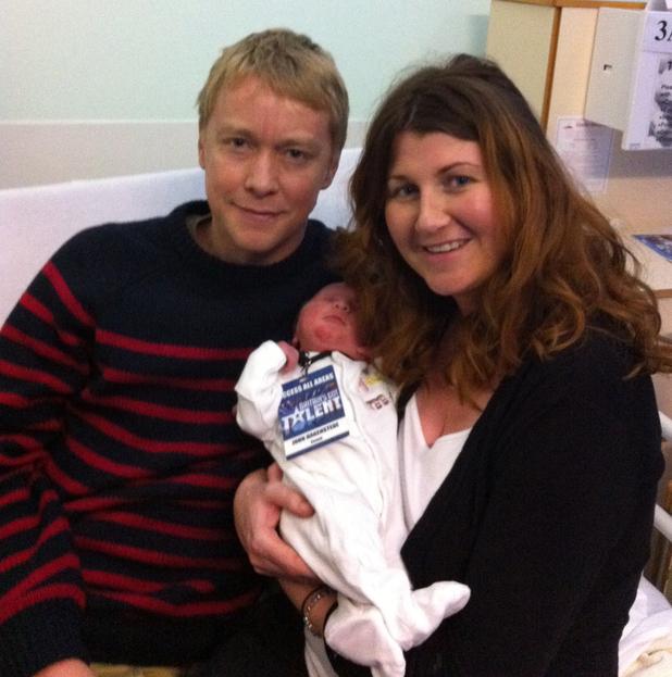 John, Lisa & Jude - Simon Cowell's baby dash