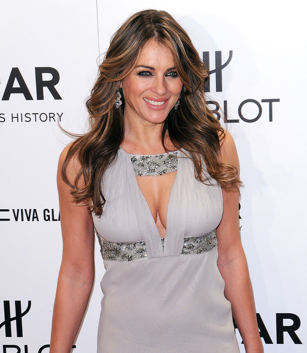 Elizabeth Hurley, 2012 amfAR New York Gala at Cipriani Wall Street - Red Carpet Arrivals. New York Ciy, USA - 08.02.12 Mandatory Credit: Ivan Nikolov/WENN.com