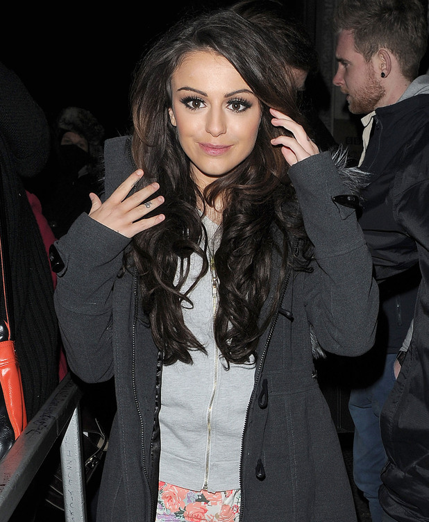 Cher Lloyd leaving Radio 1 studios. London