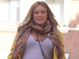 A very pregnant Hilary Duff