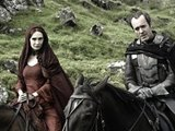 Game Of Thrones Series 2: Carice Van Houten as Melisandre and Stephen Dillane as Stannis Baratheon