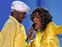 Bobby Brown pays tribute to Whitney Houston as he performs in Mississippi.