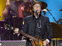 The Beatles singer returns to the stage after recovering from viral infection.