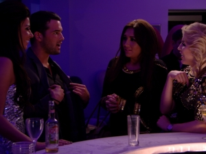 Ricky flirts with the TOWIE girls