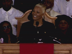 Dionne Warwick at the funeral of Whitney Houston at the New Hope Baptist church in Newark.