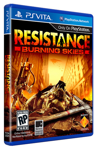 'Resistance: Burning Skies' boxart