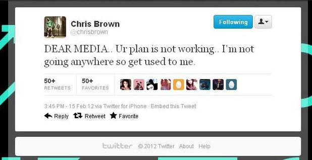 Chris Brown, Twitter