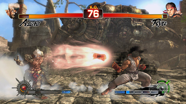 'Street Fighter's Ryu in 'Asura's Wrath' screenshot
