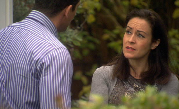 Daniel Granger (Matthew Chambers) doesn't want Zara Carmichael (Elisabeth Dermot Walsh) to go back to work