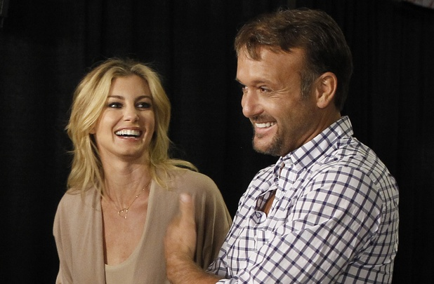 Country music couple Faith Hill and Tim McGraw