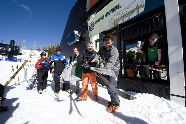 Starbucks ski-in/ski-out
