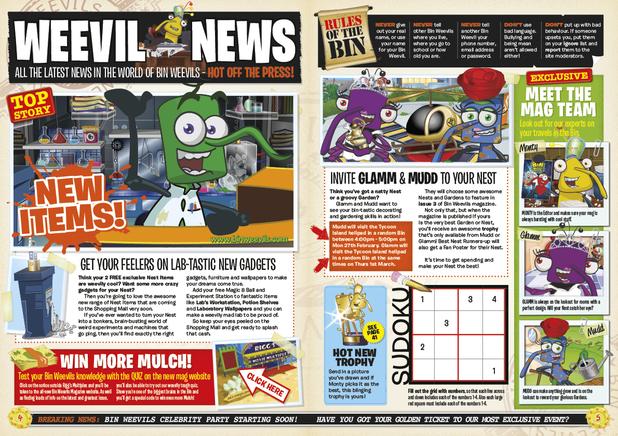 Bin Weevil magazine