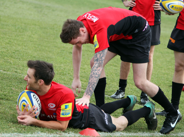 McFly play rugby for Aviva