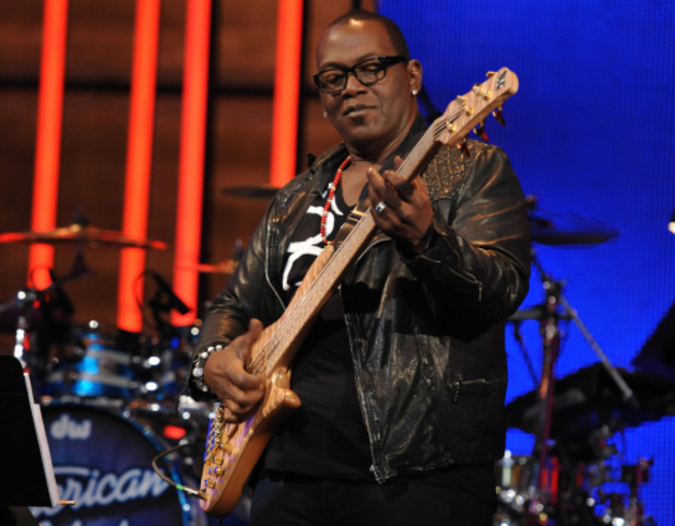 Randy Jackson with guitar in American Idol Hollywood Week