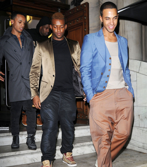 Aston Merrygold, Oritse Williams and Marvin Humes